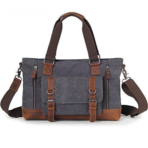 Briefcase Shoulder Gray Gray Lppff color Bag Casual Messenger Business vqnxzE1p