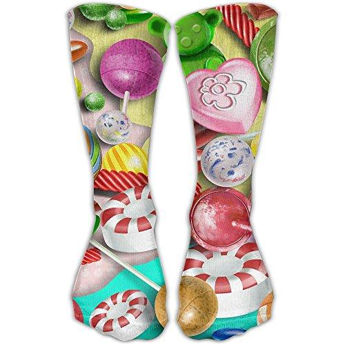 Colorful Lollipop Women & Men Socks Soccer Sport Tube Stockings Length 30cm