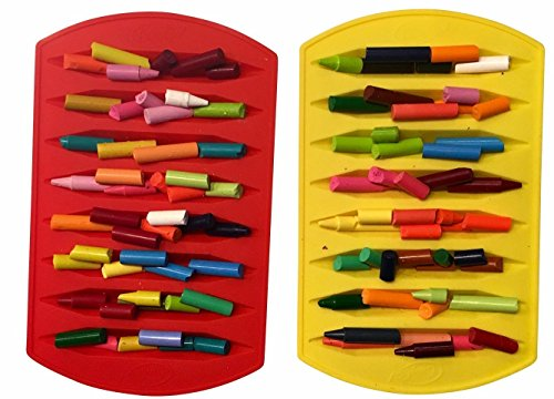 CrayOn 2 Double Tipped, Triangular Silicone Crayon Molds - Makes 16 Crayons (Total) by My Fruit Shack (Image #1)
