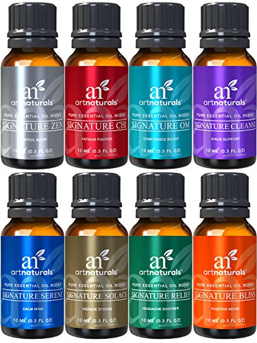 ArtNaturals Signature Blend Essential Oils Set - (8 x 10ml) - 100% Pure of The Highest Quality - Therapeutic Grade - Recommended Aromatherapy Gift Set