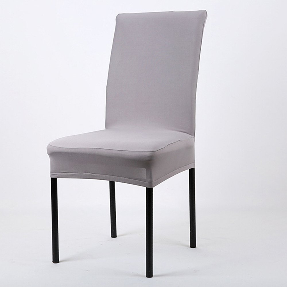 chair covers. bluelans® dining chair covers, spandex stretch slipcovers / room protectors - grey: amazon.co.uk: kitchen \u0026 home covers