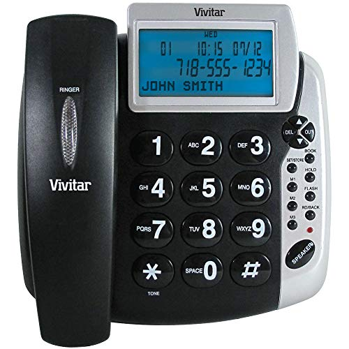 Sakar Talking Caller ID Phone - Extra-Loud Receiver & Ringer Volume, Ultra-Bright