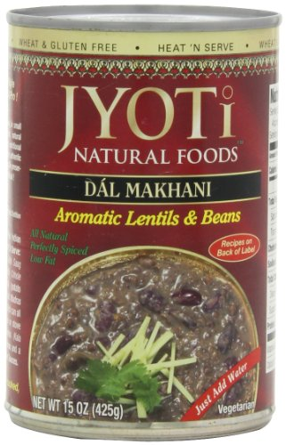 Jyoti Natural Foods Dal Makhani, Aromatic Lentils and Beans, 425 gram Cans,  (Pack of -
