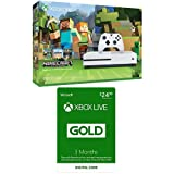 Xbox One S 500GB Console - Minecraft + Xbox Live 3 Month Gold Membership Bundle
