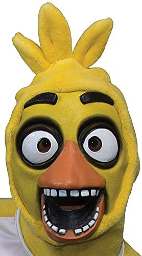 Rubie's Men's Five Nights At Freddy's Chica 3/4 Mask, As Shown, One Size -
