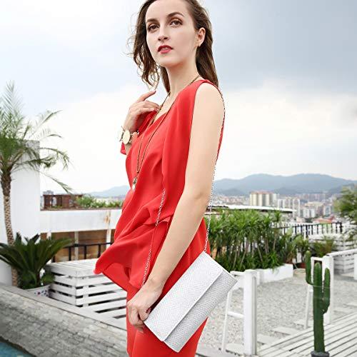 Shoulder Elegant Women Clutch Chain Black Clutch Purse Bag Milisente Evening Sequins Bags ztxqBBpU