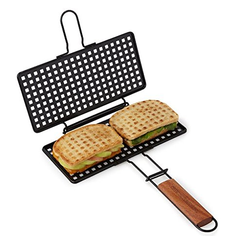 Charcoal Companion CC3132 Non-Stick Grilled Cheese Basket (Basket Outdoor Fire)