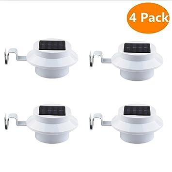 CDQ luz Solar para valla con soporte Color blanco LED de color blanco energía Solar 3 ...