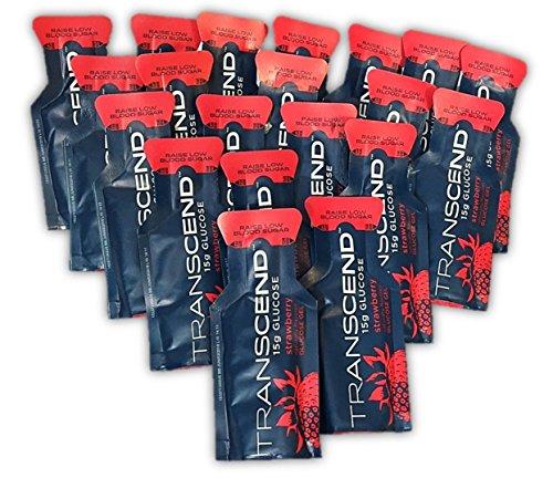 TRANSCEND 15g Glucose Gels - 20 Pouch Bulk Pack