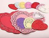 Mini Valentine Heart Doilies Lace Paper