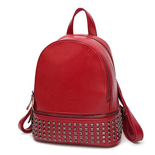 Magai Wine da Zaino Rosso Red Element Brief Lady colore studente viaggio Bag Rivet Shoulder da Casual gagxHTr
