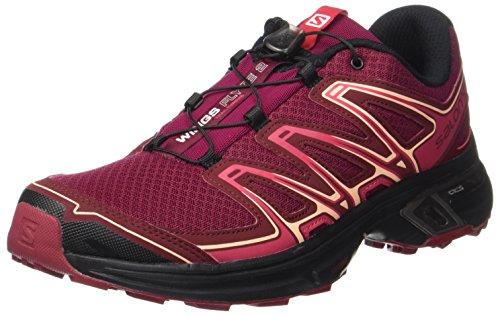 black Rouge Et Flyte Chaussures Trail beet textile Running 2 cabernet Synthétique Course Pointure Red Wings De Femme Salomon À Pied Rouge xF6zppR