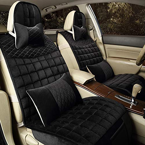 YXZN Car Seat Cushion Universal Winter Short Plush Comfort Warm Seats Cover,Black,Interchangeable: Sports & Outdoors