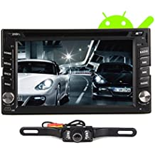 Dual Core 1.6GHZ! Two Din 6.2 Inch Android 4.2 Universal Car DVD Player With Wifi 3G Host GPS BT IPOD Mirror Link Radio Free Map Headunit+Free Backup Camera
