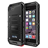 iPhone 6 6S Plus Waterproof Case, CarterLily Underwater Full Body Heavy Duty Built-in Screen Snowproof Shockproof Dropproof Tough Rugged Hybrid Hard Military Cover iPhone 6 6S Plus-Black
