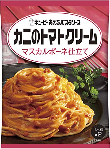 Kewpie dress of pasta sauce crab tomato cream mascarpone tailoring (70g ~ 2) 6 pieces ~ [Parallel import] ()