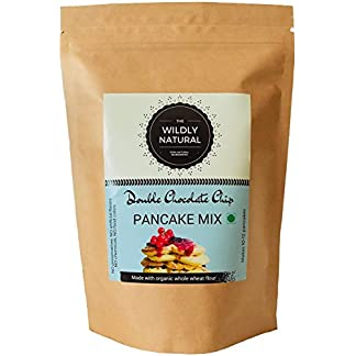 The Wildly Natural Breakfast Pancake & Waffle Mix – Double Chocolate Chip – Eggless & Whole Wheat & Brown Sugar (265 GMS) 51y0BRfmIvL