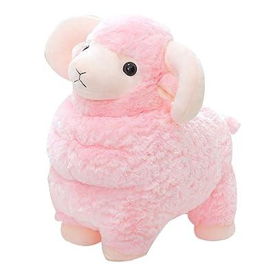Juguete de peluche Cute Little Sheep Animal Dolls Regalos For Niños Almohada For Dormir De La Familia Almohada De Moda (Color : Pink, Size : 28cm): Hogar