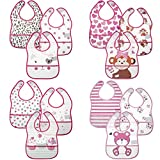 Little Me 12 Pack Crumb Catcher Bibs for Baby Boys & Girls; 0-12 Months
