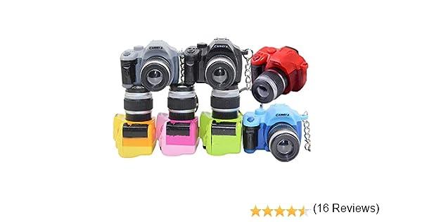 vientiane Llavero de la Cámara,7 colores Mini Linterna con luz LED ...