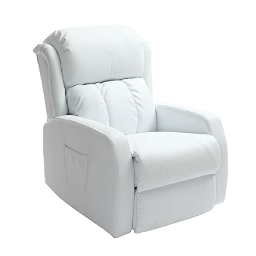 Miliboo - Sillón Relax eléctrico masajeador blanco GALLER ...