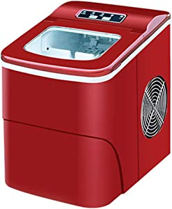 Countertop Ice Maker, 9 Bullet Ice Cube Ready in 6-13 Mins, Compact Ice Make Machine, Perfect for Home/Office/Bar/Kitchen(Red)