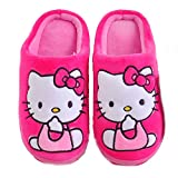 Bobilo® (Adult) Hello Kitty Plush Slippers Warm Cozy Catton Slippers Non-Slip Sole