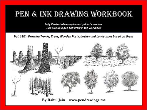 Pen and Ink Drawing Workbook vol 1-2: Learn to Draw Pen and Ink