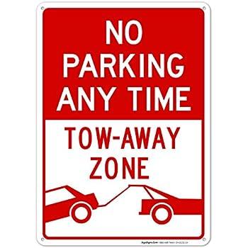 Amazon.com: No Parking lejos de remolque zona Sign