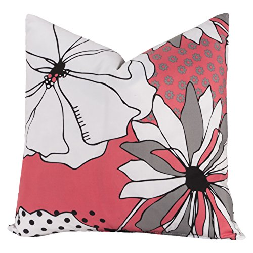 Crayola Flower Patch Square Pillow - 26 X 26 Euro ()