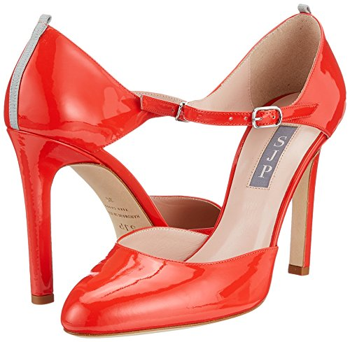 Rojo Tacon Y Campbell Correa Jessica Con cot Zapatos De Patent Para Sarah Sjp Red By Tobillo Mujer Parker wgS80nq6