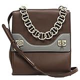 Prada Leather Vitello Soft Cacao Brown Leather Chain Shoulder Bag B5095C
