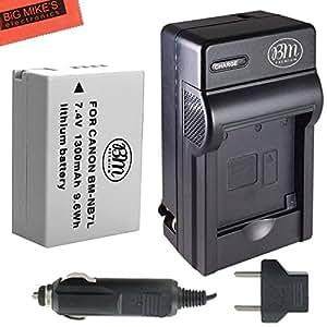BM Premium NB-7L Battery & Charger Kit Canon PowerShot G10 G11 G12 SX30 IS Digital Camera