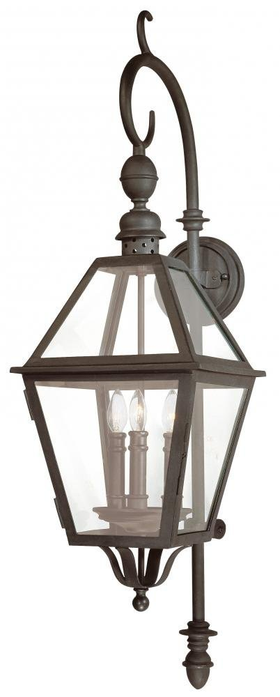Troy Lighting Townsend 39.5''H 3-Light Outdoor Wall Lantern - Natural Bronze Finish with Clear Glass by Troy