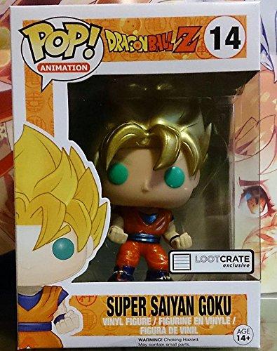 Funko POP! Anime: Dragonball Z Super Saiyan Goku Metallic Exclusive