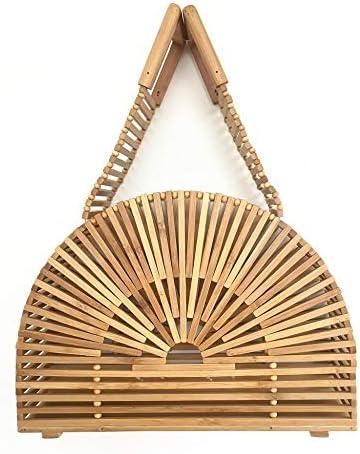 カットアウト半円形のファッションハンドバッグビンテージビーチ自由Bo放に生きるスタイルバッグ手作り竹ビンテージバッグ