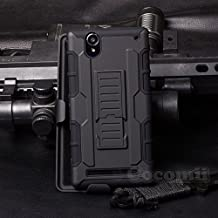 Sony Xperia T2 Ultra Case, Cocomii Robot Armor NEW [Heavy Duty] Premium Belt Clip Holster Kickstand Shockproof Hard Bumper Shell [Military Defender] Full Body Dual Layer Rugged Cover (Black)