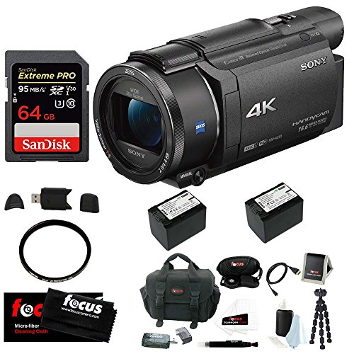 Sony FDR-AX53 UHD 4K Handycam Camcorder (Deluxe Bundle) by Sony