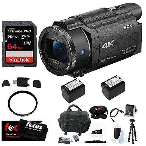 51y0Di1QuqL - Sony FDR-AX53 UHD 4K Handycam Camcorder (Deluxe Bundle)
