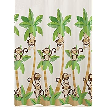Saturday Knight Monkey Town Vinyl Shower Curtain