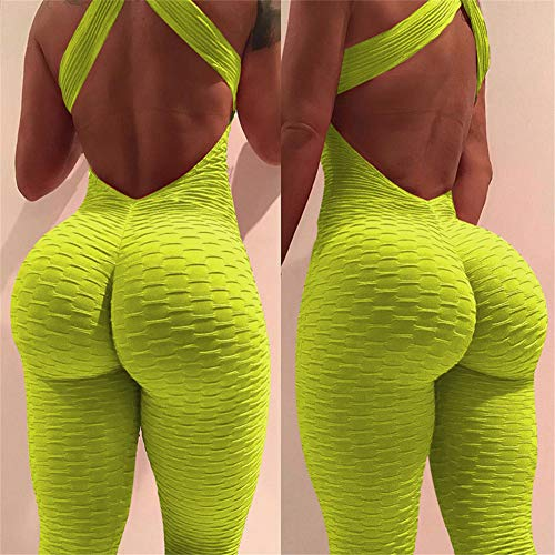 Backless Sport Jacquard Yellow Clubwear Party Body Hanches Bandage Femmes Sexy Combinaisons Combinaisons Longues SEwxIgnnq5