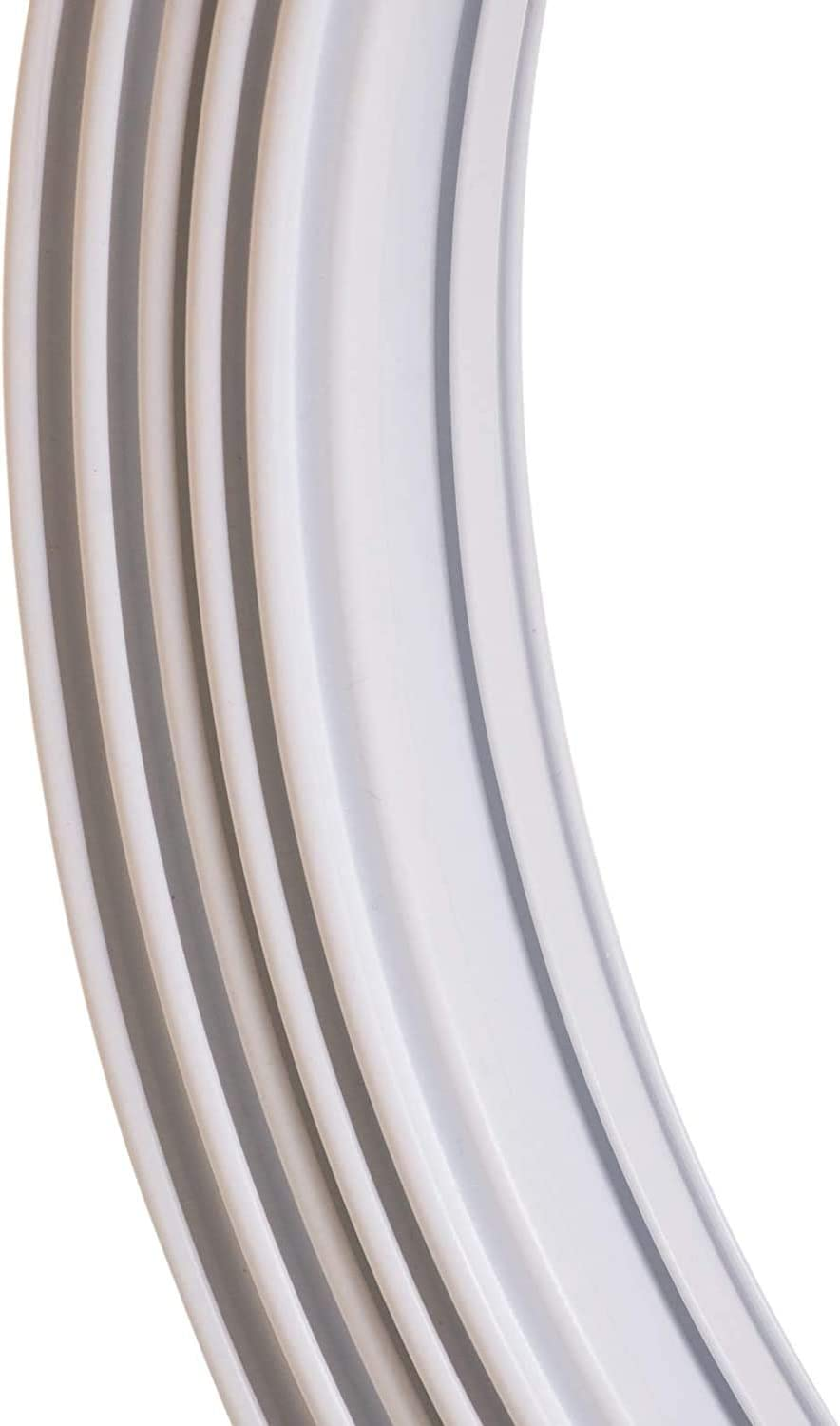 6m Bendable Curtain Track Coil for Bay /& Straight Window Windows and Rail Fixings