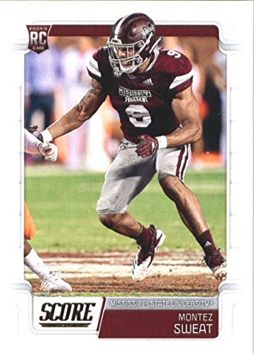 (2019 Score Football #368 Montez Sweat Mississippi State Bulldogs Rookie Official NFL Trading Card From Panini Redskins)