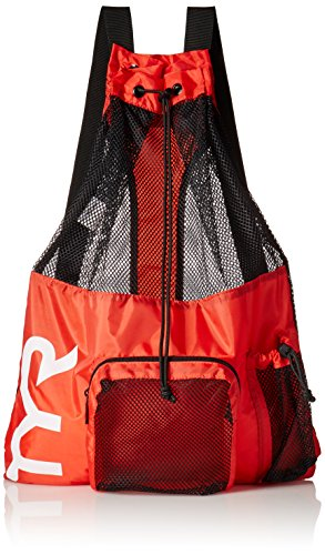 TYR Big Mesh Mummy Backpack, Red, - Swimming Equipment For