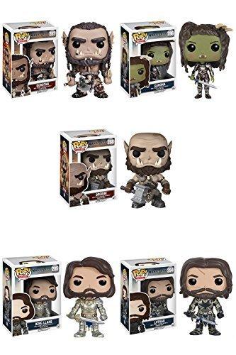 (Warcraft Lothar, King Llane, Durotan, Garona, Orgrim Pop! Vinyl Figures Set of)
