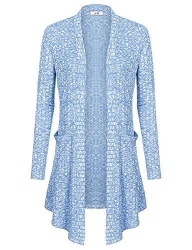 Light Blue Cardigan Sweater - 1
