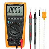 Proster Auto-Ranging Digital Multimeter 5999 and 2000uF Digital Multimeters Meter Amp Ohm Volt Meter Multi Tester with Capacitance Test and Temperature Measurement