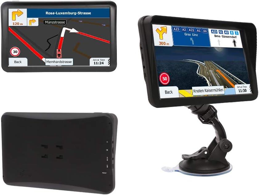 9-inch HD Display with Sun Visor GPS Navigation 8GB 256MB Satellite Navigation Car GPS Navigation Voice Navigation Lane Free map Update for Life