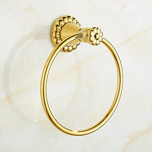 Horse Head Towel Ring (RY-Cu all toilets Towel Ring American bathroom hardware hang, gold)