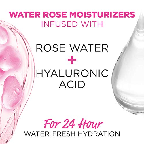 Garnier SkinActive Water Rose 24H Moisture Gel with Rose Water and Hyaluronic Acid, Face Moisturizer, For Normal to Combination Skin, 2.4 Fl Oz